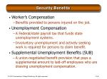 security benefits