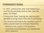communists rising