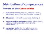 distribution of competences powers of the communities