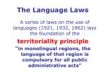 the language laws