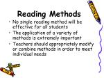 reading methods