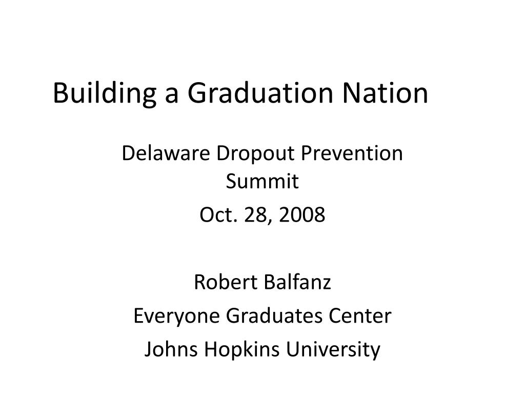 building a graduation nation l.