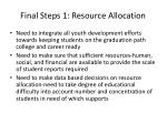 final steps 1 resource allocation