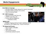 media engagements