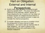 hart on obligation external and internal perspectives
