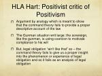 hla hart positivist critic of positivism