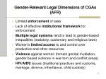 gender relevant legal dimensions of cgas afr
