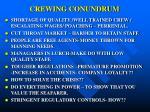 crewing conundrum
