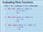 evaluating more functions