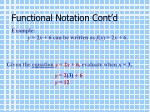 functional notation cont d