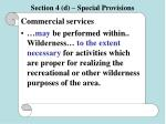 section 4 d special provisions56