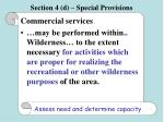 section 4 d special provisions57