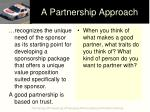 a partnership approach