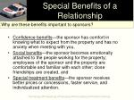 special benefits of a relationship