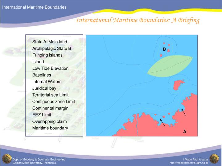International maritime boundaries a briefing