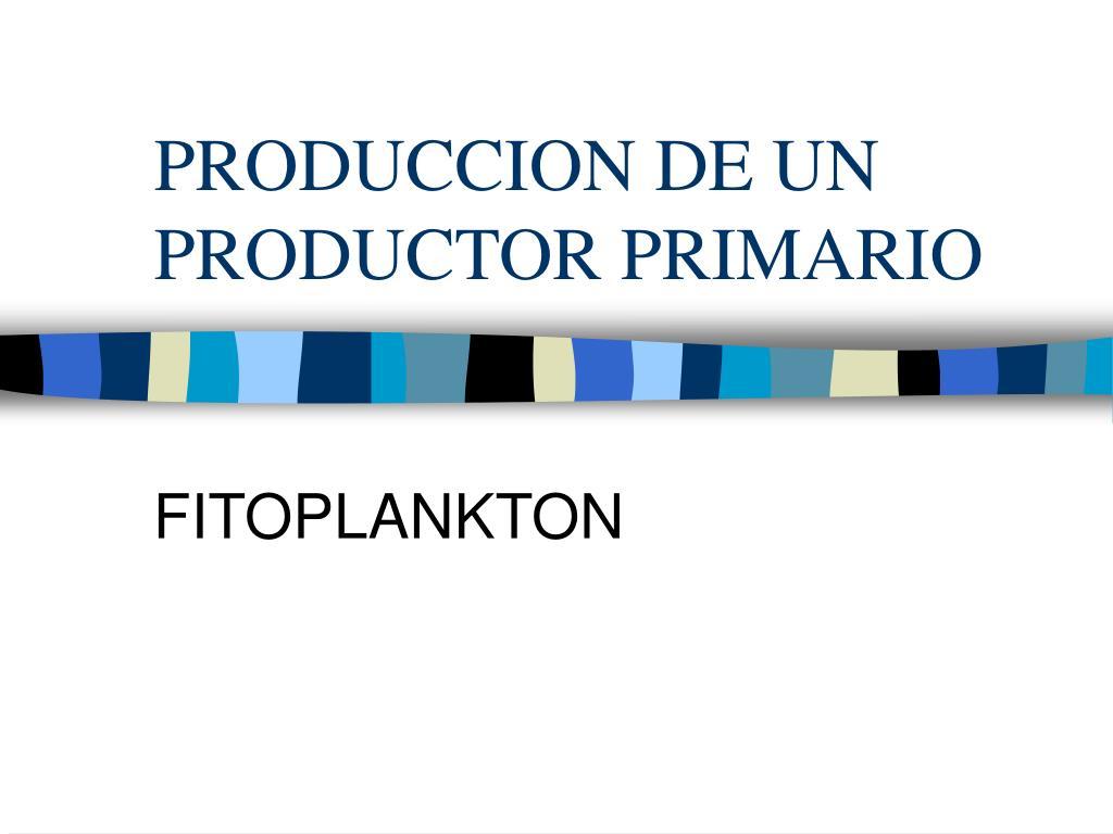 produccion de un productor primario l.