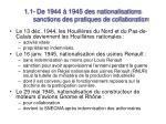 1 1 de 1944 1945 des nationalisations sanctions des pratiques de collaboration