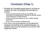 conclusion chap 1