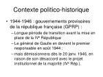 contexte politico historique