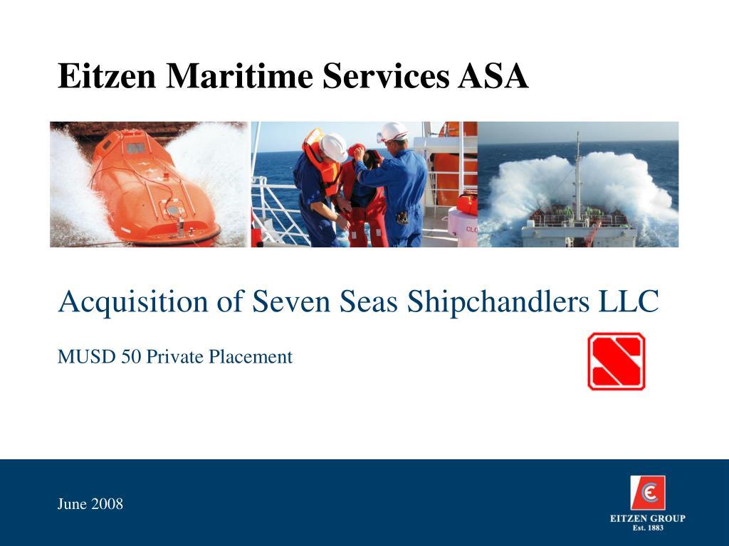 eitzen maritime services asa l.