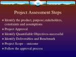 project assessment steps