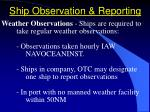 ship observation reporting