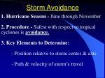 storm avoidance