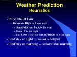 weather prediction heuristics20