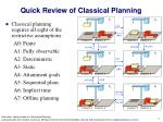 quick review of classical planning