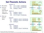 set theoretic actions