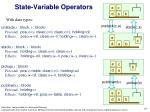 state variable operators