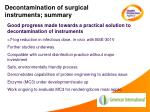 decontamination of surgical instruments summary
