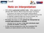 note on interpretation