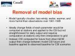 removal of model bias