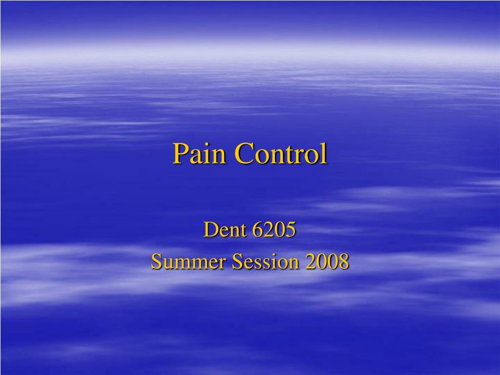 pain control l.