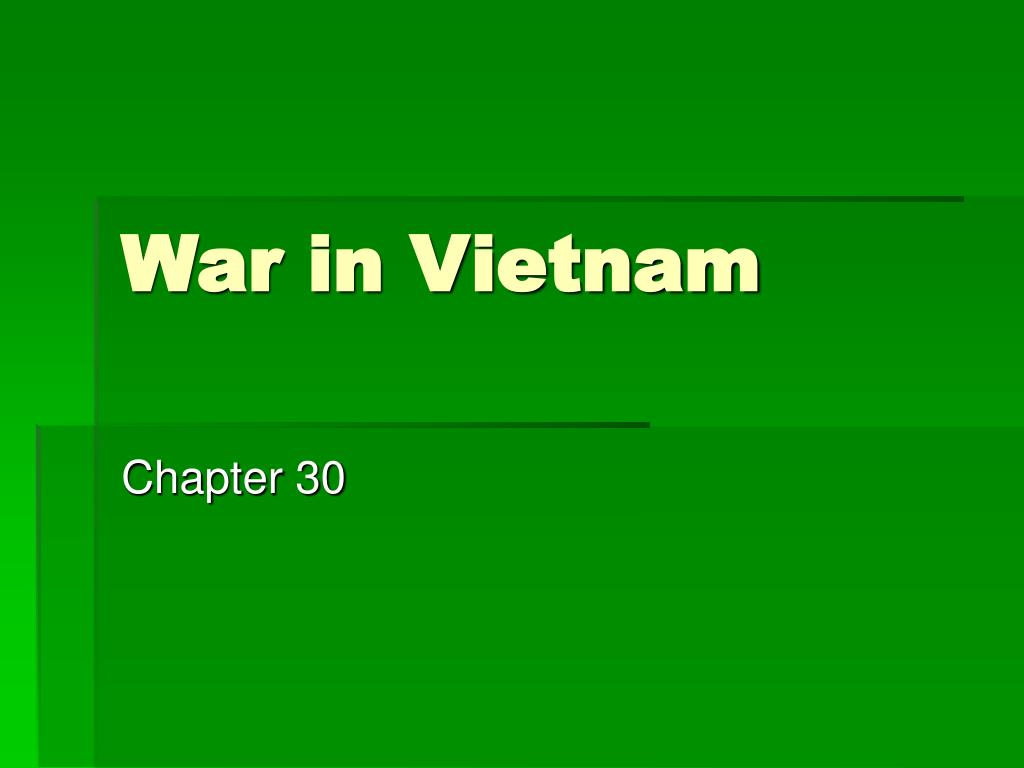 war in vietnam l.
