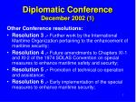diplomatic conference december 2002 1
