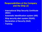 responsibilities of the company and the ship 2