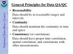 general principles for data qa qc