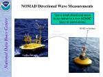 nomad directional wave measurements