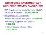 workforce investment act wia arra funding allocation