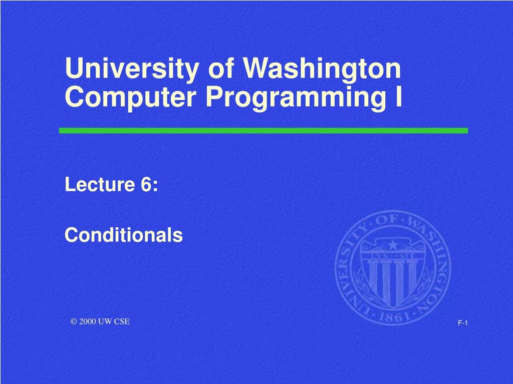 university of washington computer programming i l.