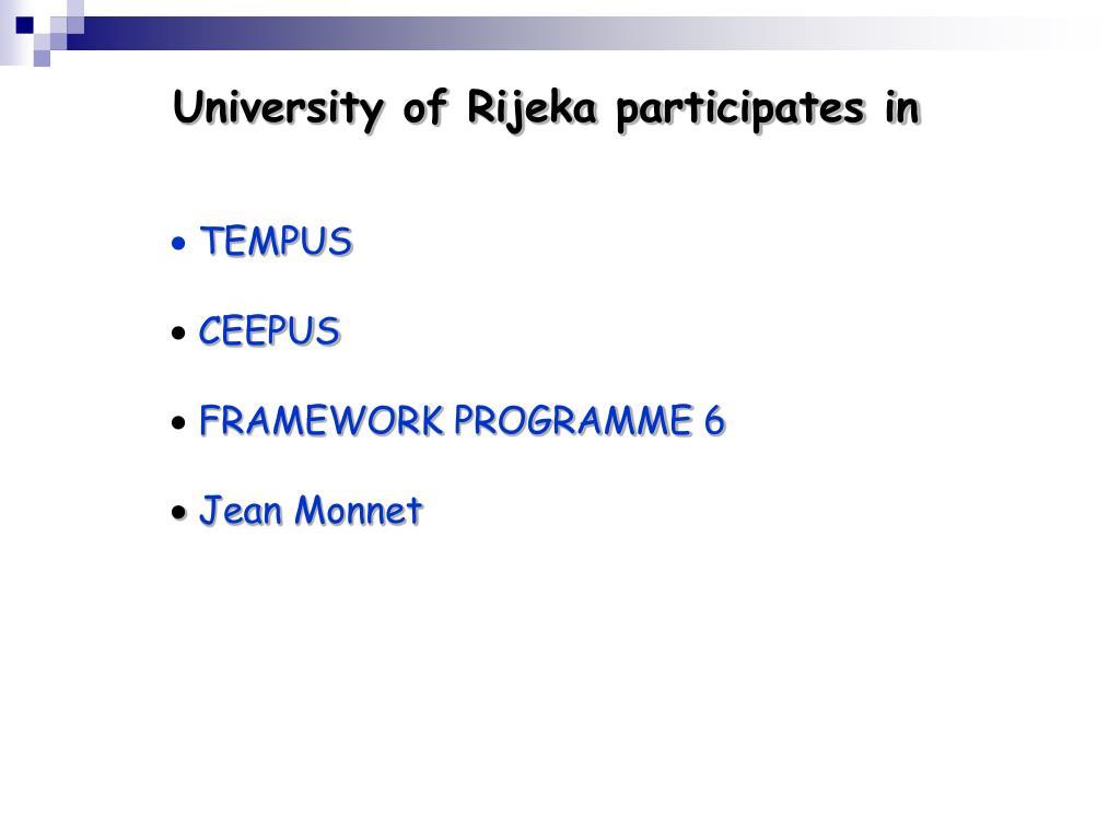 University of Rijeka participates in