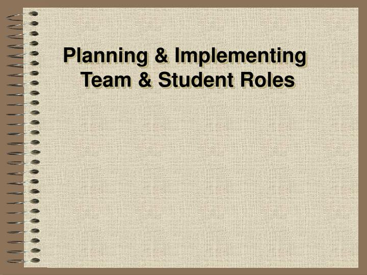 Planning & Implementing