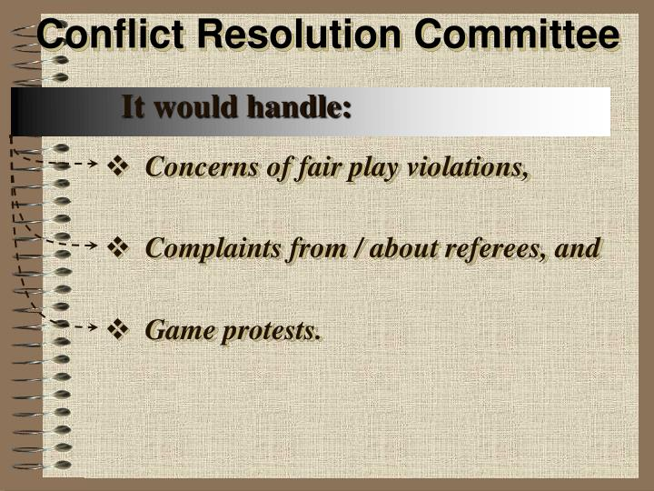 Conflict Resolution Committee