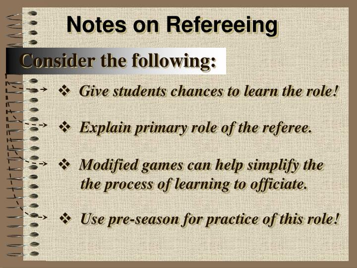 Notes on Refereeing