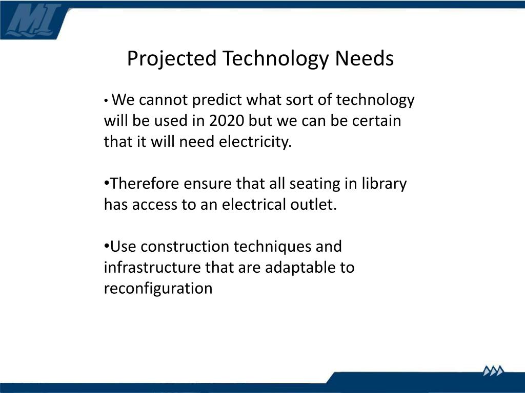 Projected Technology Needs