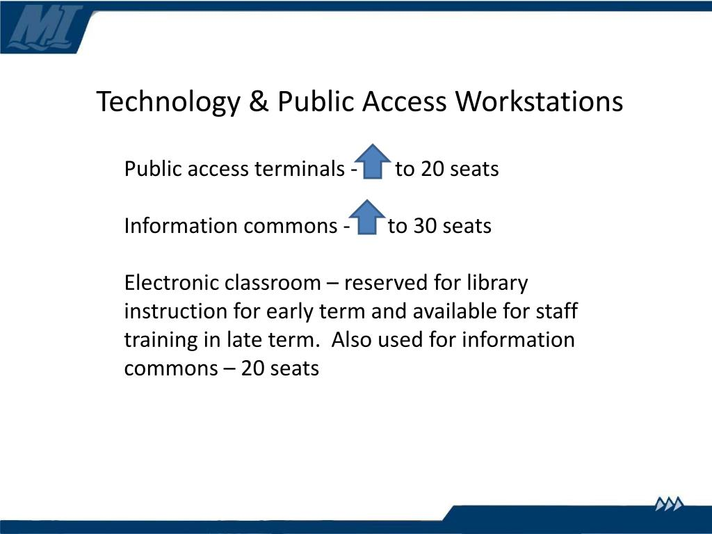 Technology & Public Access Workstations
