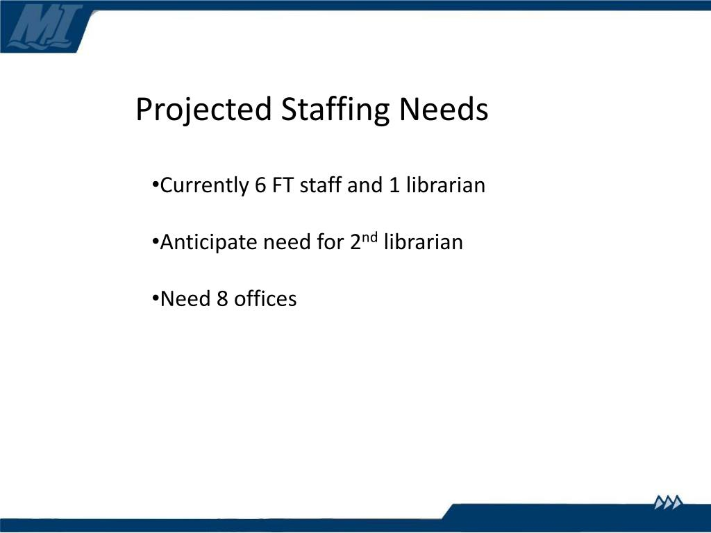 Projected Staffing Needs