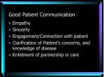 good patient communication